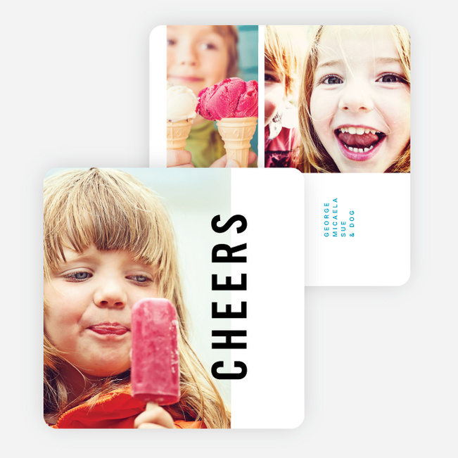 Big Cheers New Year Cards - Blue