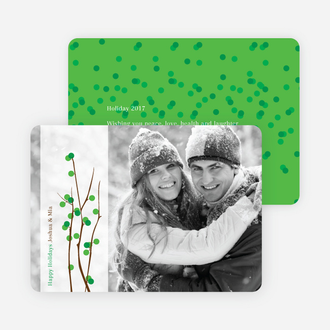Holiday Berries Christmas Cards - Kelly Green