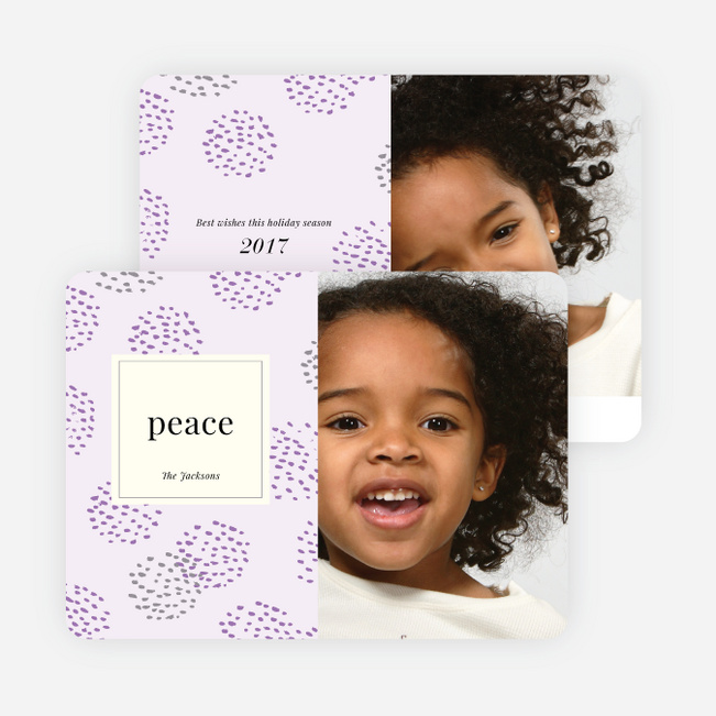 Peace Patterns Holiday Cards - Purple