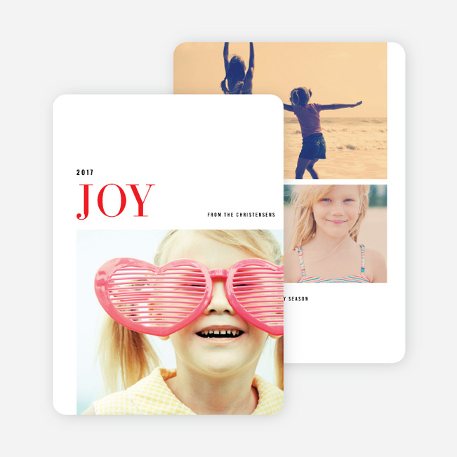 Simple Joy Holiday Cards - Red