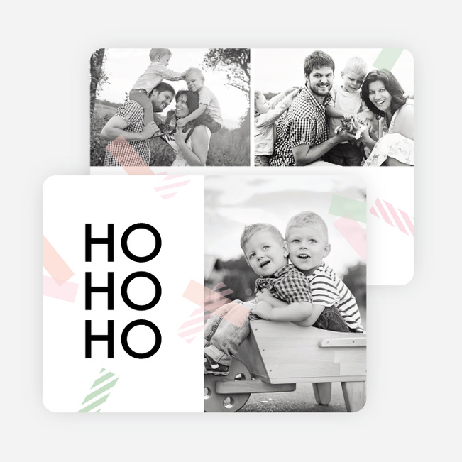 Decorative Taple Christmas Cards - Red