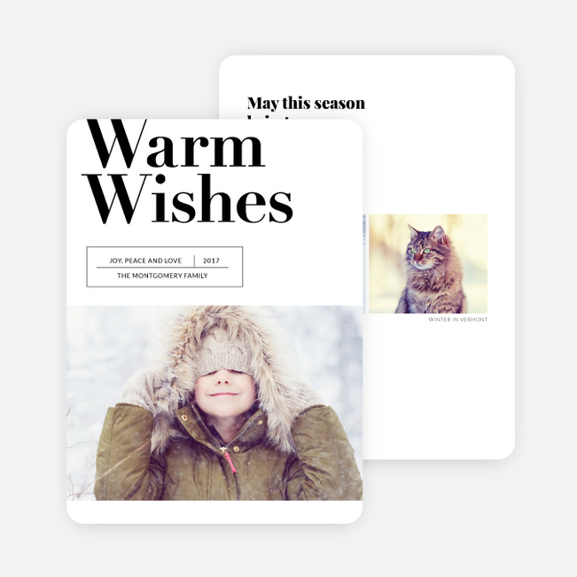 Headline Wishes Holiday Cards - Black