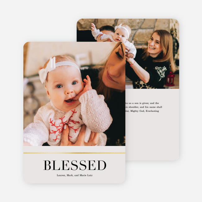 Peace & Quiet Holiday Cards - Beige