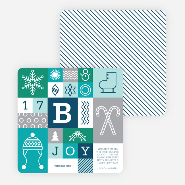 Winter Things Holiday Cards - Blue