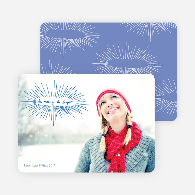 be merry, be bright Holiday Photo Cards - Cadet Blue