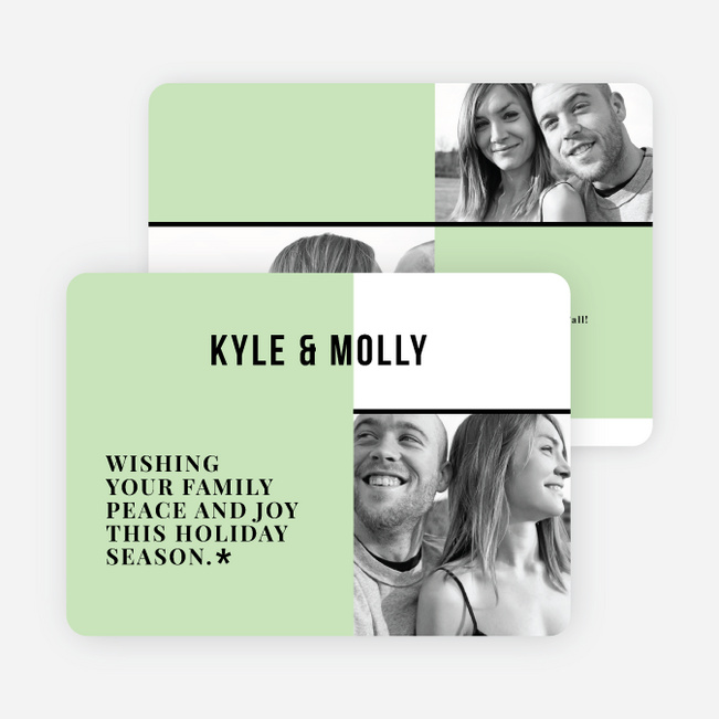 Modern Togetherness Holiday Cards - Green