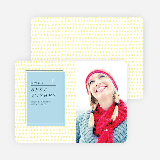 Cheerful Dots Holiday Cards - Yellow