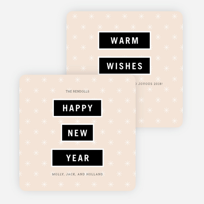 Modern and Bold New Year Cards - Pink