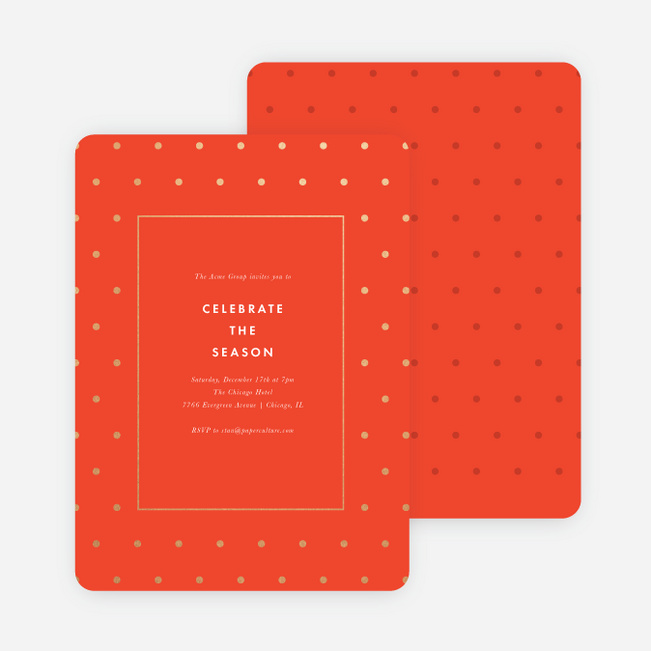 Tis the Season Corporate Holiday Invitations - Orange
