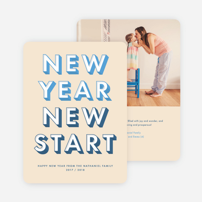 New Start New Year Cards | Paper Culture