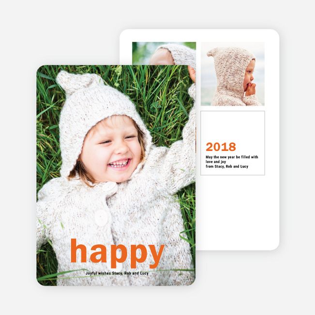 Big Statement New Year Cards - Orange