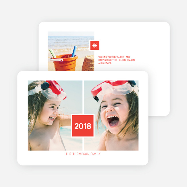 Double Joy New Year Cards - Red