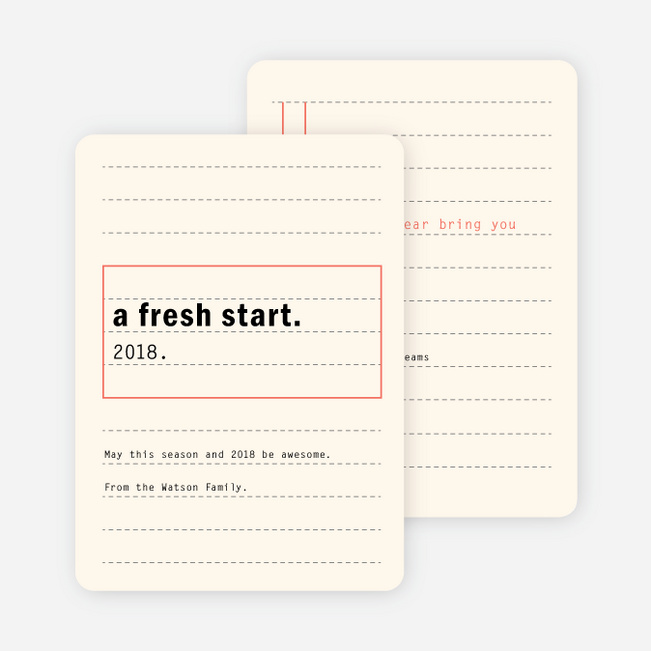 Fresh Start New Year Cards | Paper Culture