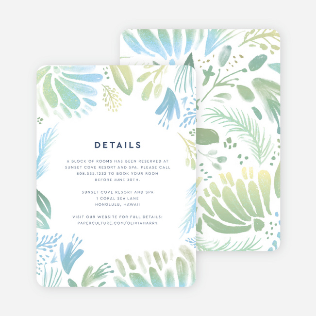 Abstract Accents Wedding Information Cards - Multi