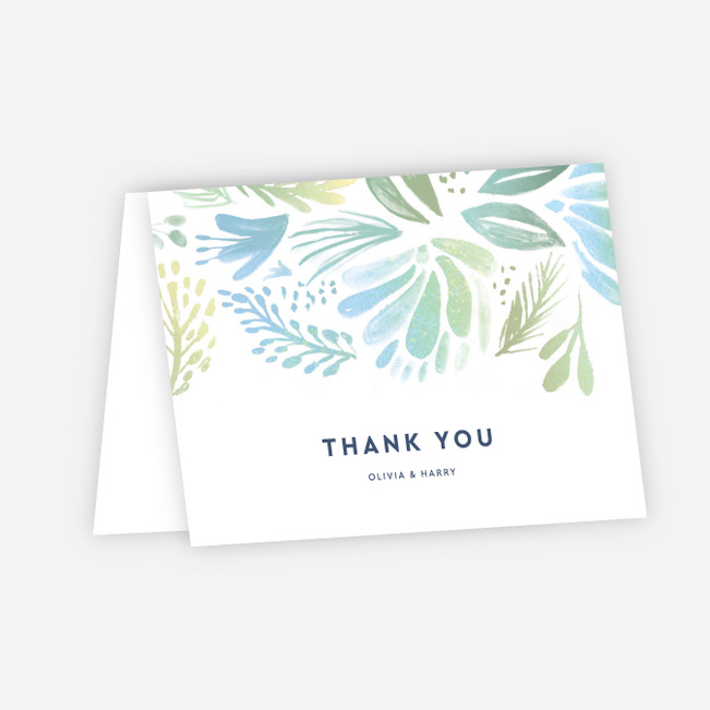 Abstract Accents Wedding Thank You Cards - Multi
