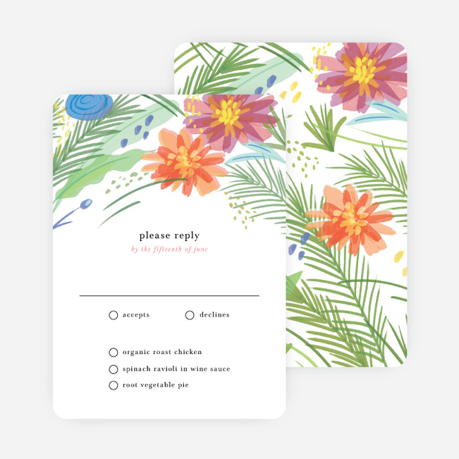 Field of Dreams Wedding Response Cards - Multi
