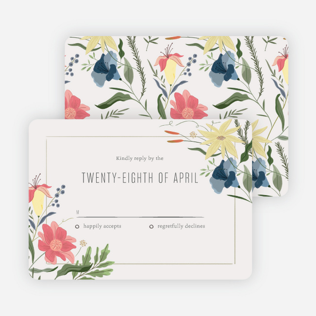 Herbs & Wildflowers Wedding Response Cards - Multi
