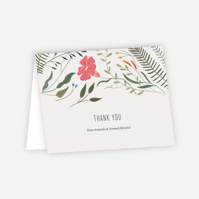 Herbs & Wildflowers Wedding Thank You Cards - Multi