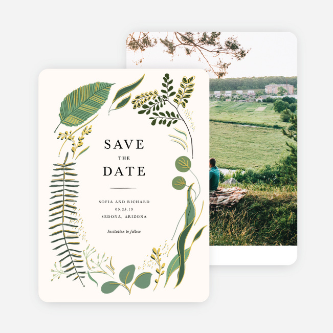 Rustic Forest Save The Date Cards Paper Culture