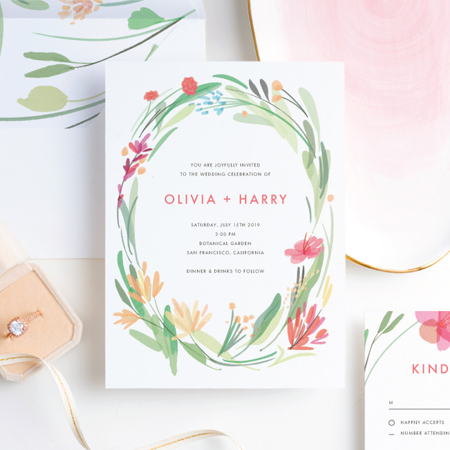 Spring Garden Wedding Invitation Suites - Multi