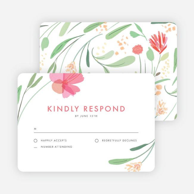 Spring Garden Wedding Response Cards - Multi