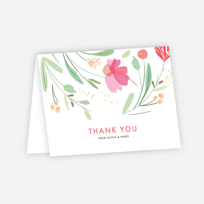 Spring Garden Wedding Thank You Cards - Multi