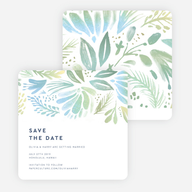 Abstract Accents Save the Date Cards - Multi
