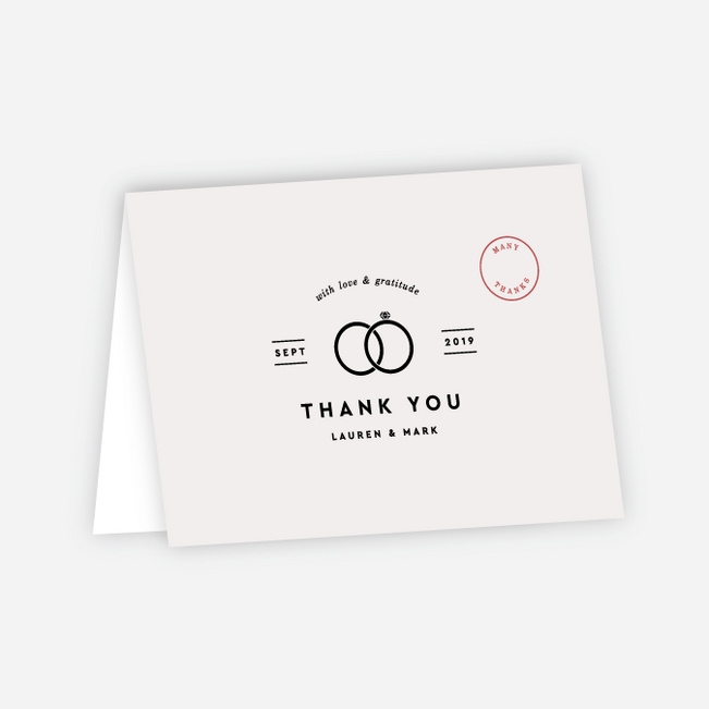 Artisanal Countryside Wedding Thank You Cards - Beige