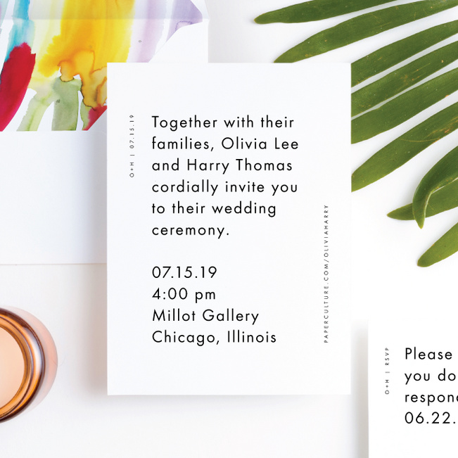 Gallery Art Wedding Invitation Suites - Multi