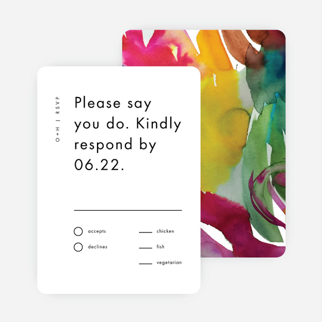 Gallery Art Wedding Response Cards - Multi