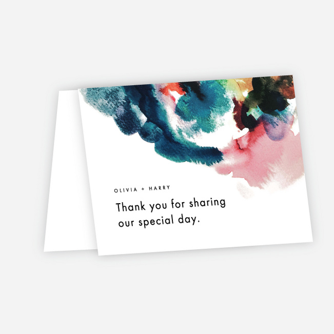 Gallery Art Wedding Thank You Cards - Multi