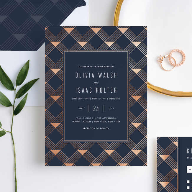 Love Angles Wedding Invitation Suites - Blue
