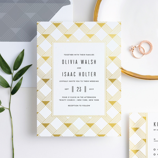 Love Angles Wedding Invitation Suites - White