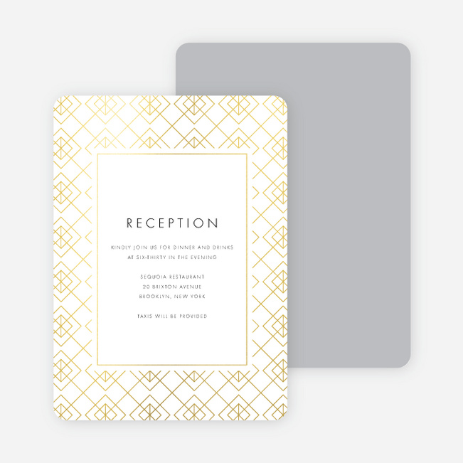 Union of Squares Wedding Information Cards - Yellow