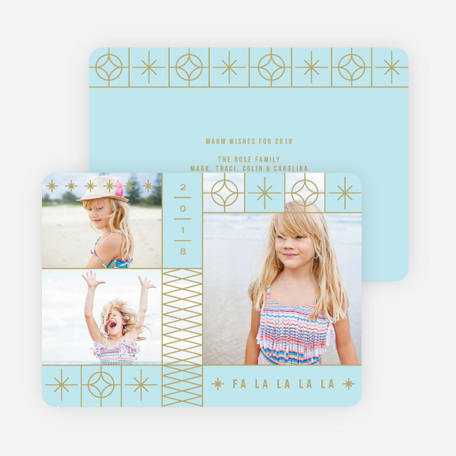 Decorative Stars Christmas Cards - Blue