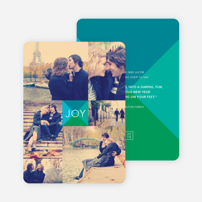 Shapes of Joy Modern Holiday Cards - Blue
