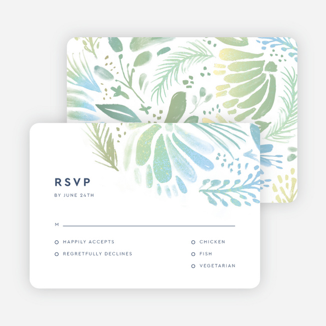 Abstract Accents Wedding Response Cards - Multi
