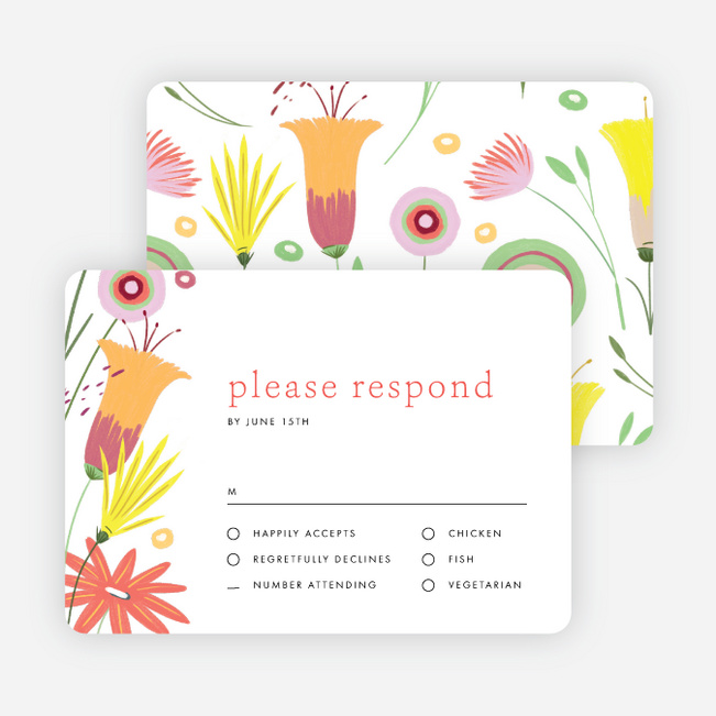 Vibrant Botanicals Wedding Response Cards - Multi