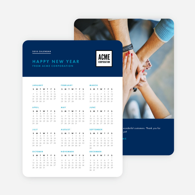 Work calendar corporate holiday cards paper culture reheart Choice Image