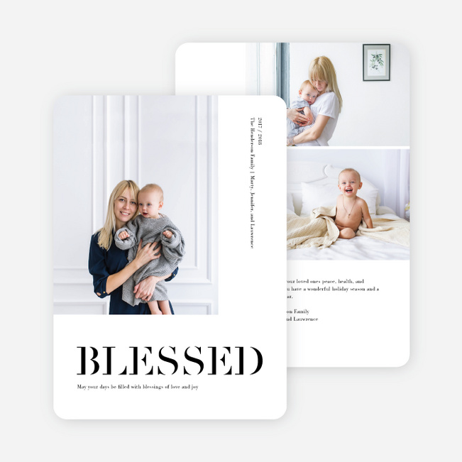 Uniquely Blessed New Year Cards - Black