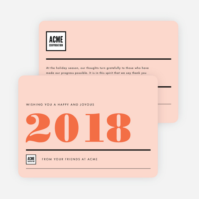 Big Year Corporate New Year Cards - Red