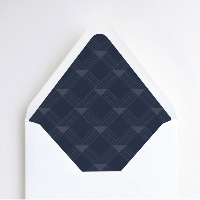 Love Angles Wedding Envelope Liners - Blue