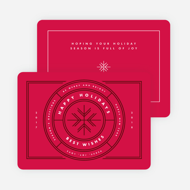 Snowflake Stamp Holiday Cards - Red