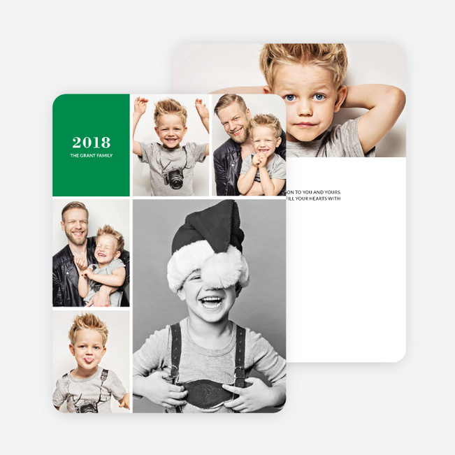 New Year's Card Photo Collage - Green