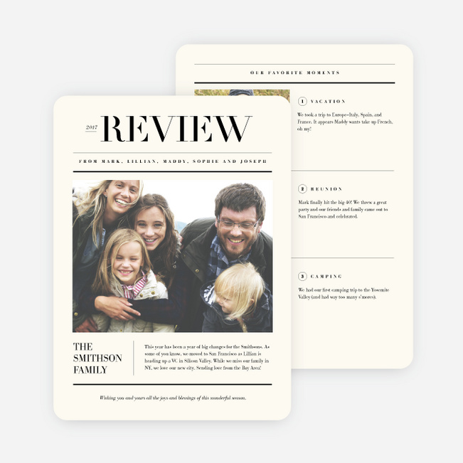 Perfect Review Holiday Cards - Beige