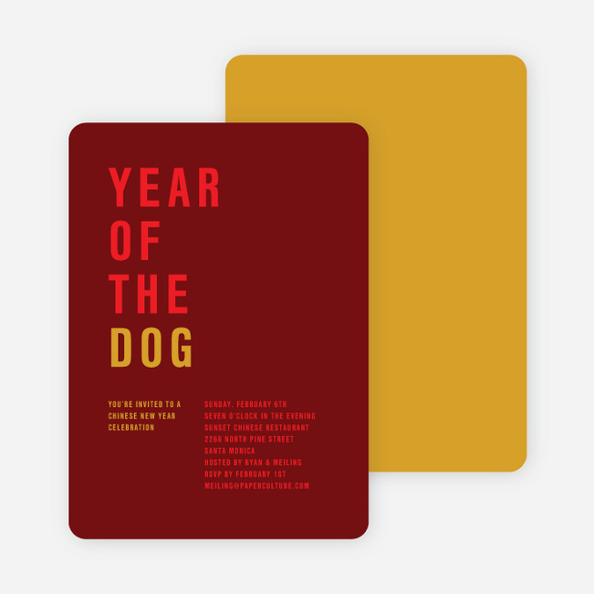 Year of the Dog – Storyline Cards - Red