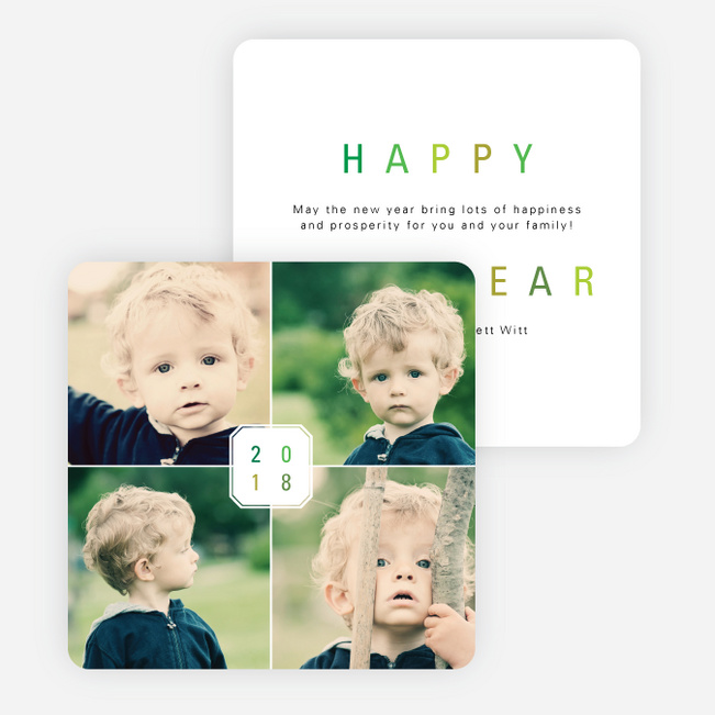A Plaque for the New Year Cards - Green
