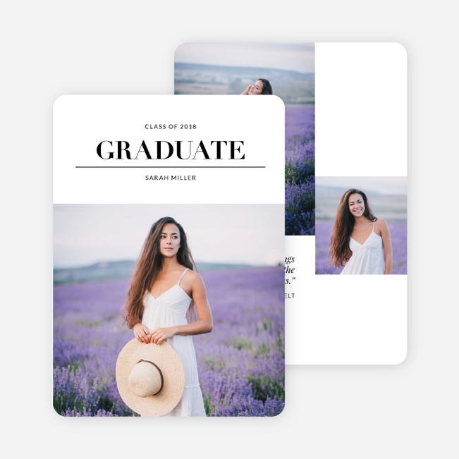 Graduation Announcements that Dream Big - Black