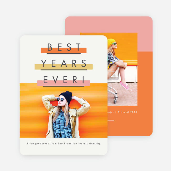 Highlighted Graduation Announcements - Orange