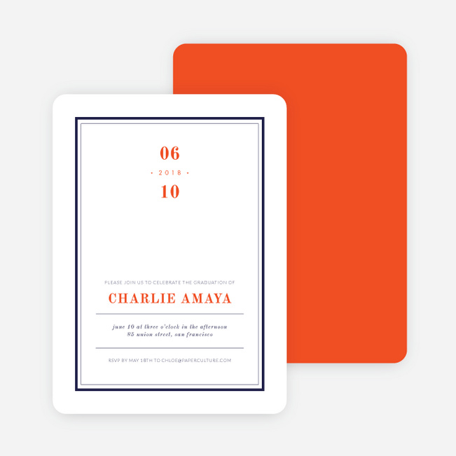 Modern Spin on Traditional Graduation Announcements - Red